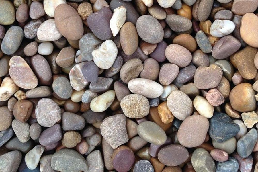 rounded-pea gravel